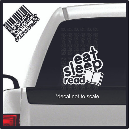eat sleep read decal on truck