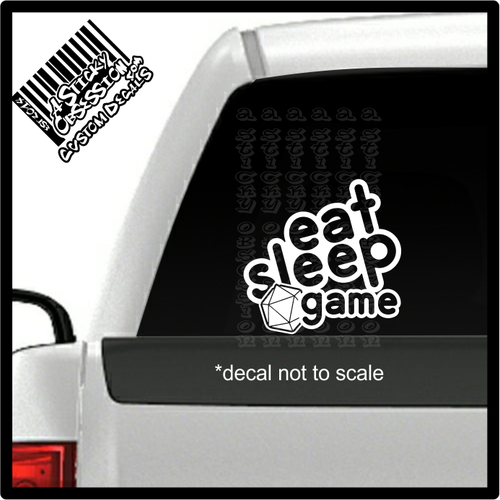 eat sleep game on truck