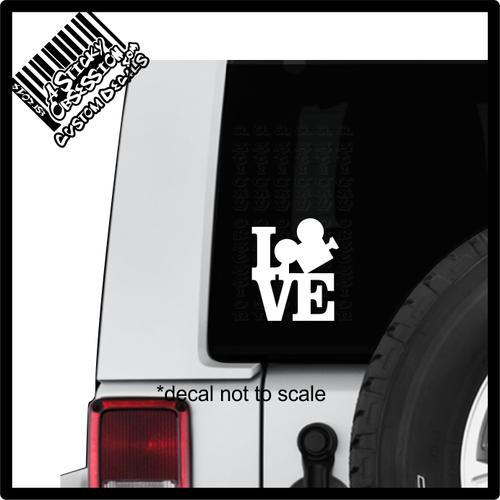 Love Film Direct Movie Decal sticker on Jeep