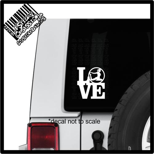 Love Yoga Yogi Zen Decal sticker on Jeep