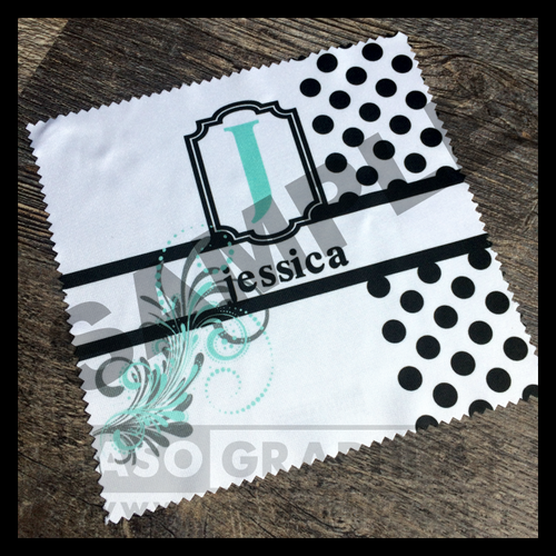 Personalized Microfiber screen eyeglass cleaning cloth