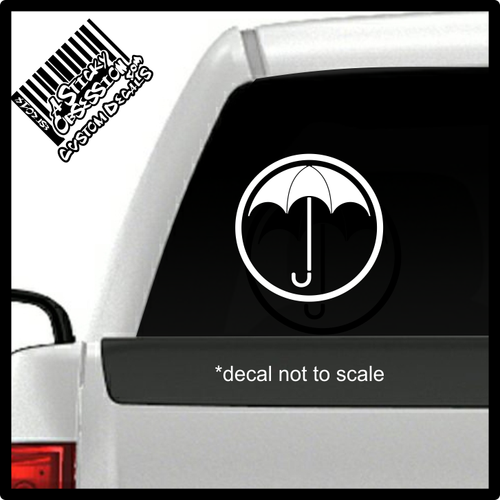 Umbrella Academy decal on truck