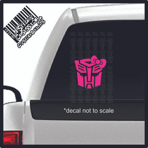Fem Autobot decal on truck