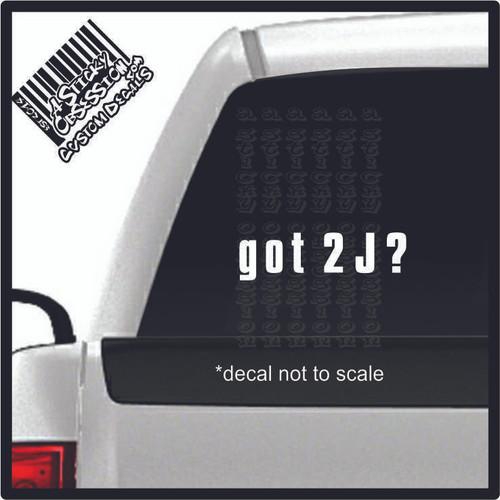 Got 2J decal on truck
