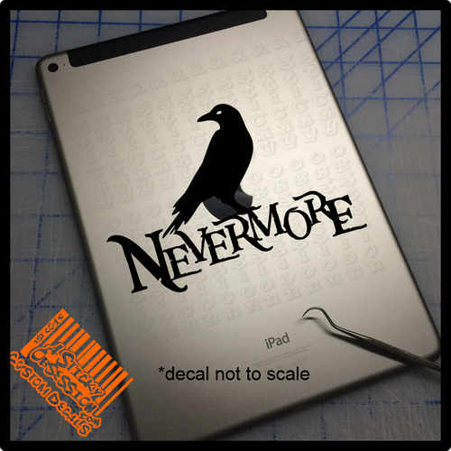 Nevermore decal on iPad