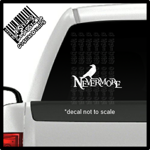 Nevermore small raven decal on truck