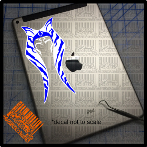 Ahsoka Tano 2 tone decal on iPad