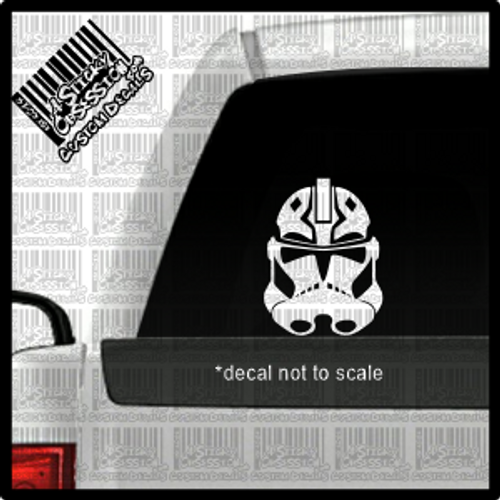 Ahsoka Tano Clone Trooper helmet on truck