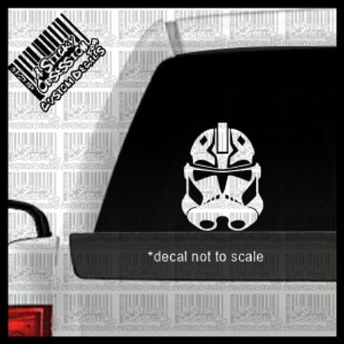 Ahsoka Tano Clone Trooper helmet on truck