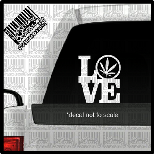 Love Pot decal on truck