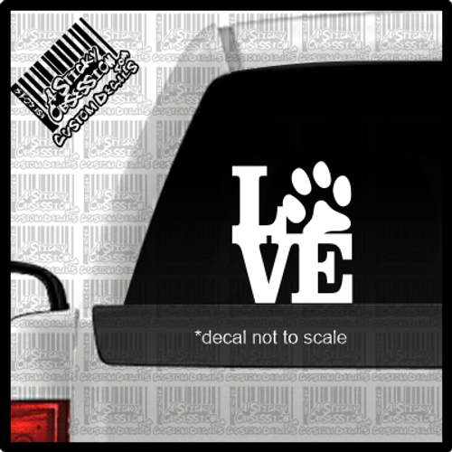 Lowe paw print decal on truck