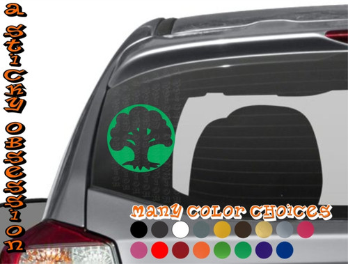 Green mana on car