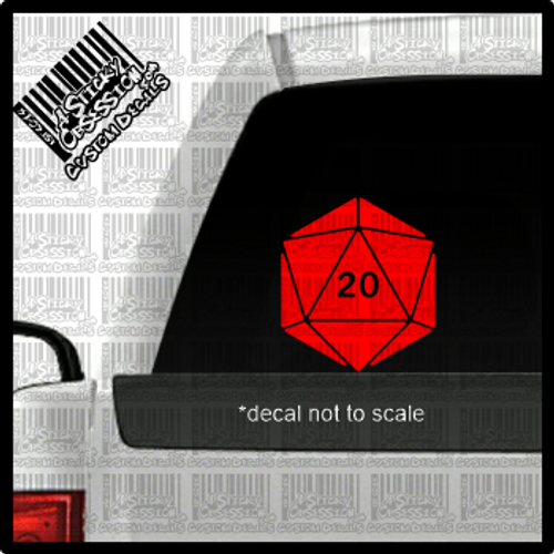 D20 decal on truck