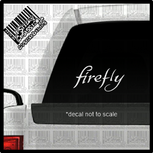 Firefly decal on truck