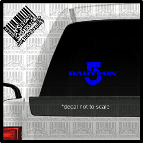 Babylon 5 decal on truck