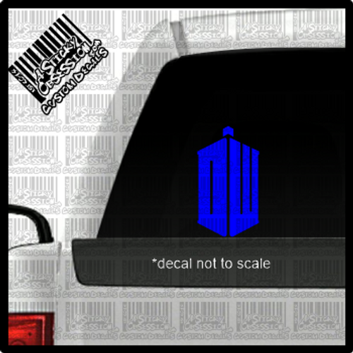 Dr Who DW decal on truck