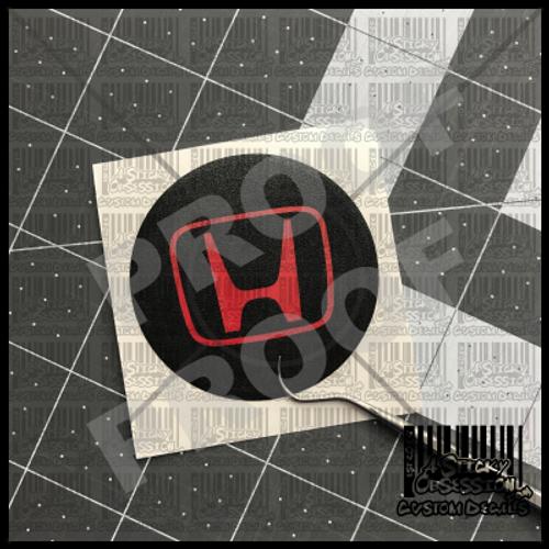 Honda custom wheel center cap overlay