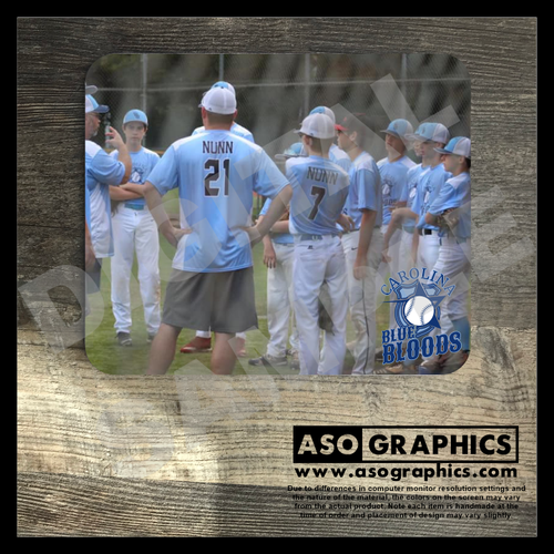 Carolina Blue Bloods Baseball custom mouse pad