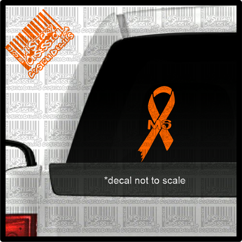 MS Multiple Sclerosis decal on truck