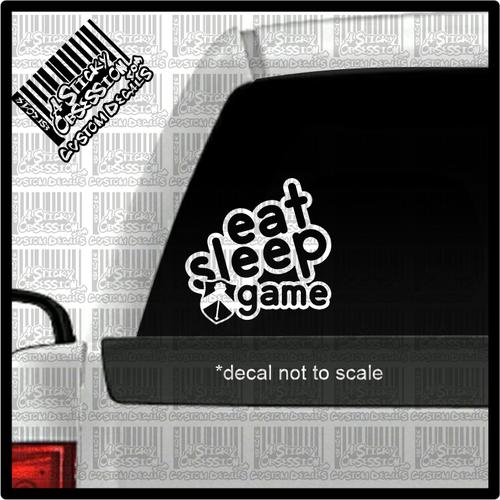 Eat Sleep Mace decal on truck