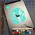 Sabine Wren Star Wars Rebels Mandalorian Helmet Decal in mint on iPad
