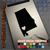 Alabama Heart black decal on iPad
