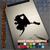 Alaska Heart black decal on iPad