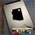 Arizona Heart black decal on iPad