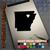 Arkansas Heart black decal iPad