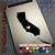 California Heart black decal on iPad