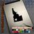 Idaho Heart black decal on iPad