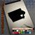 Iowa Heart black decal on iPad