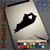 Kentucky Heart black decal on iPad