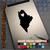 Maine Heart black decal on iPad