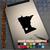 Minnesota Heart black decal on iPad
