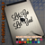 Let go and let God black decal on iPad