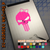 Punisher Girl Skull with Bow Decal on iPad