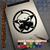 Gas Mask Skull Star Respirator Biohazard on iPad