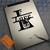 Split letter monogram on ipad