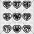 Heart 3 Letter Monogram Custom Decal Sticker