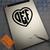 Heart 3 Letter Monogram on iPad