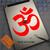 Om Yoga Hindu Spiritual Custom sticker on iPad