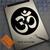 Om Symbol Round Yoga Hindu Spiritual Custom sticker on iPad