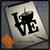 Love Coffee Tea Decal sticker on Tablet
