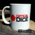 Critical Dice company logo mug