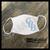 Carolina Blue Bloods CBB text logo custom face mask