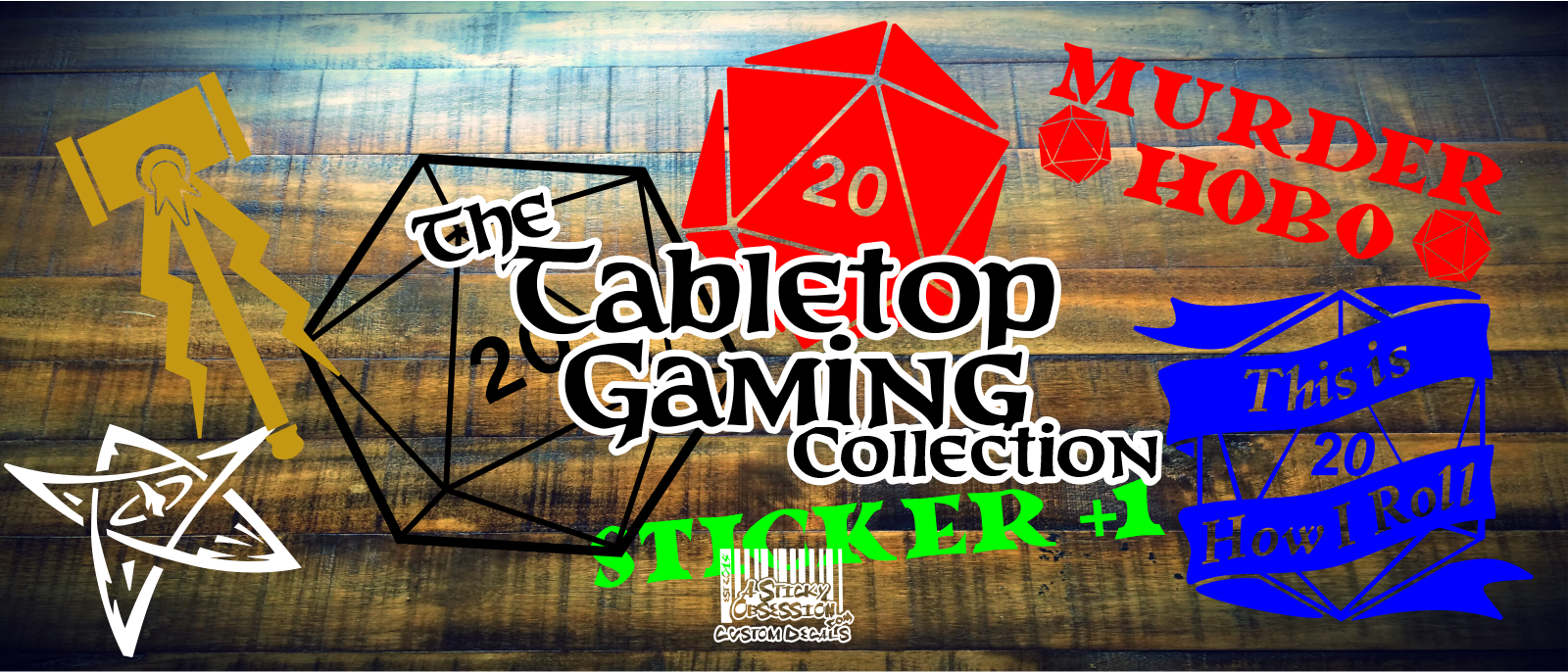 Tabletop Gaming Custom Decal Collection