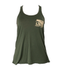 Prodigy Ladies Racerback Tank - Military Green/Tan Ink