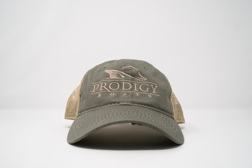 Prodigy Unstructured Mesh Hat - Olive/Tan