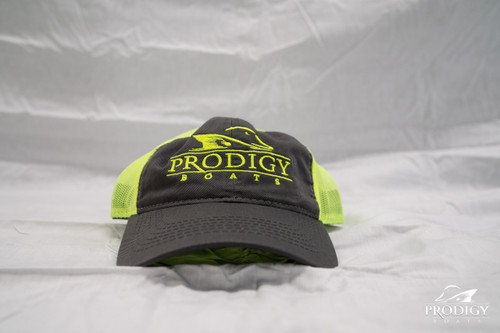 Prodigy Mesh Hat - Gray/Neon - Neon Stitching